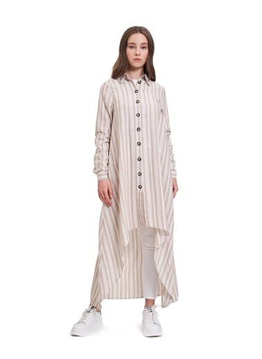 Mizalle Youth Elbise Bej
